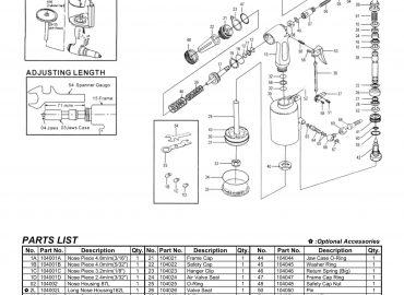 نقشه انفجاری پرچ کن بادی GP-104
