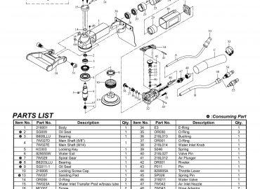 نقشه انفجاری سنگ آب و بادی GPW-218L
