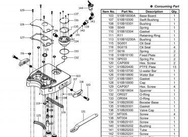 نقشه انفجاری پخ زن سنگ GPW-510A