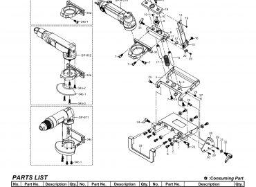 نقشه انفجاری پایه سنگ GPW-A01