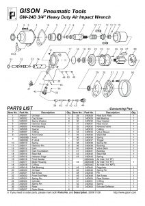 نقشه انفجاری بکس بادی GW-24D
